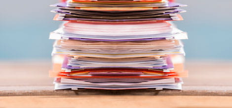 Pile of paper records