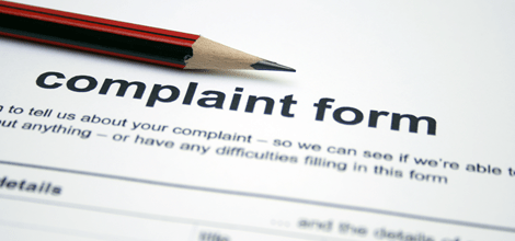 Image of a complaint form