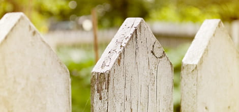 Image of old picket fence